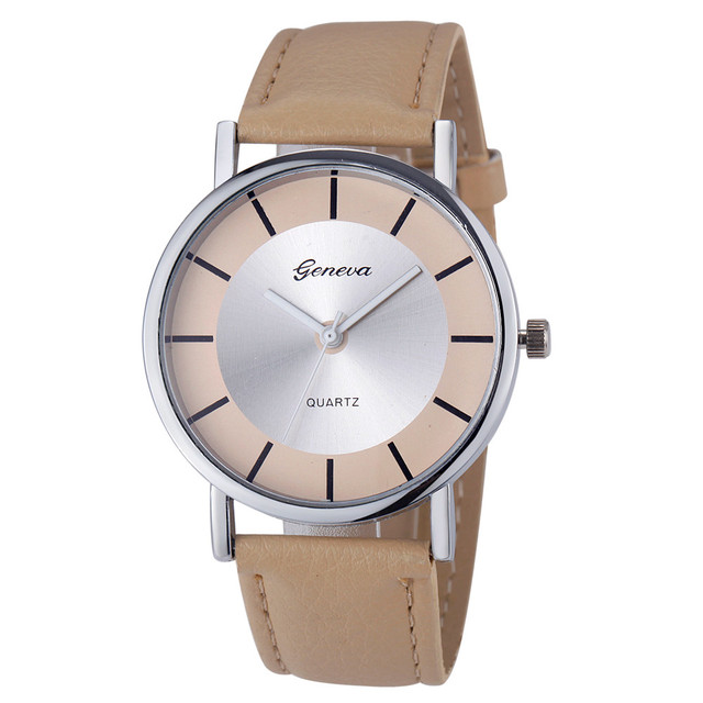 Wavors Women's Watches Fashion&Casual Alloy Dial Leather Band Analog Quartz Ladi