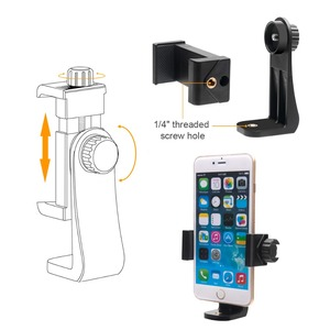 Image 4 - Mini Smartphone Hand Grip Holder Mobile Phone Stabilizer Clip Selfie Stick Clamp Adapter for iPhone 11 XS MAX XR Samsung S10