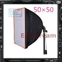50 50 With Power Socket E27 Photo Studio Square Foldable Softbox Soft Box For Strobe Flash