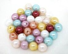 DoreenBeads 200 PCs Mixed Imitação de Pérolas Redondas Beads 10mm de Diâmetro.