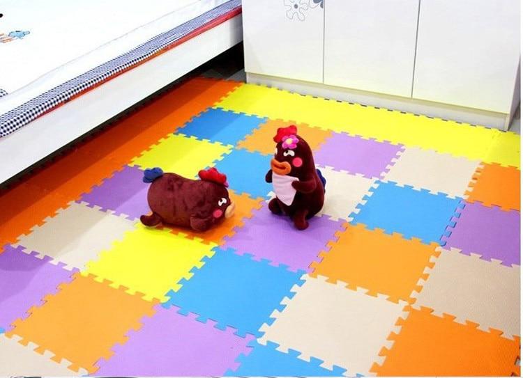 Meitoku  baby EVA Foam Interlocking Exercise Gym Floor play mats rug Protective Tile Flooring carpets 32X32cm 9 or 10pcs/lot,