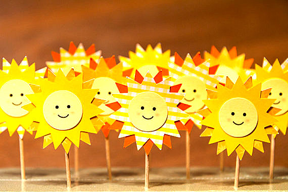 You are my Sunshine Cupcake Sandwich Toppers Birthday Party