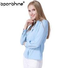 2017 Elegant Blusas Ladies Office Shirts Chiffon Blouse shirt Women Korean Fashion blusa Casual Slim Tops Plus Size