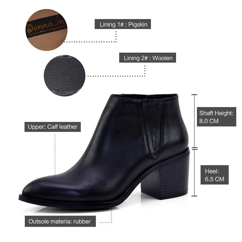 Donna-in wanita boot kulit asli wanita kulit sepatu kaki menunjuk - Sepatu Wanita - Foto 5