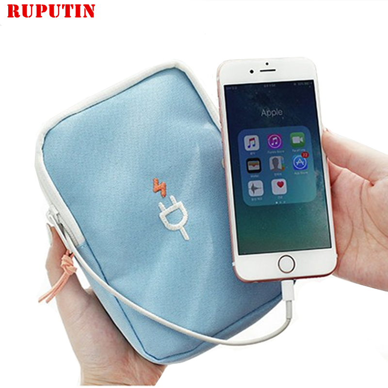 RUPUTIN New Portable Travel Storage Cable Bags Data Line Organizer Bags Multifunction USB Charger Sorting Travel Accessories Bag