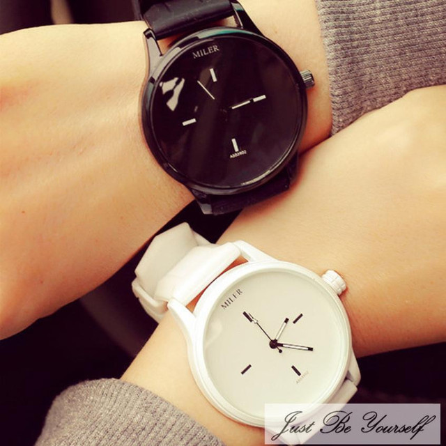 Xiniu Black and White color fashion Couple watch simple scale design for your LOVE points 2018  Quartz watch Day Gift