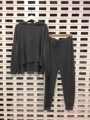 Crop Top And Skirt Set Direct Selling Blends Full None 2016 New Leisure Hoodie Knit Tops + Drawstring Pants Two Sets