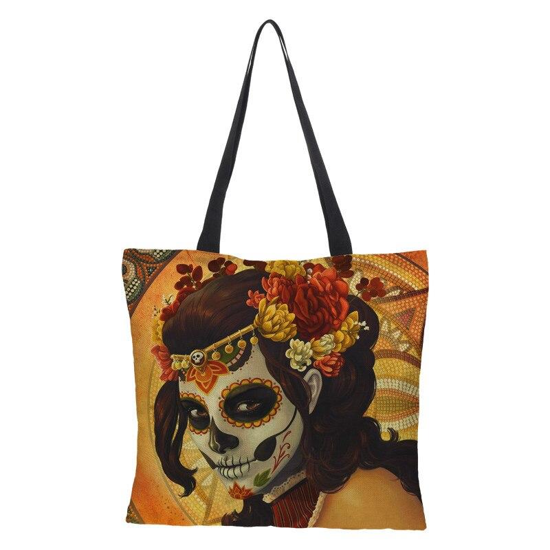 4f270ece9ebb custom made Personalized Tote Bag Linen Bag With Print Women Fashion  Handbag Eco Reusable Shopping Bags