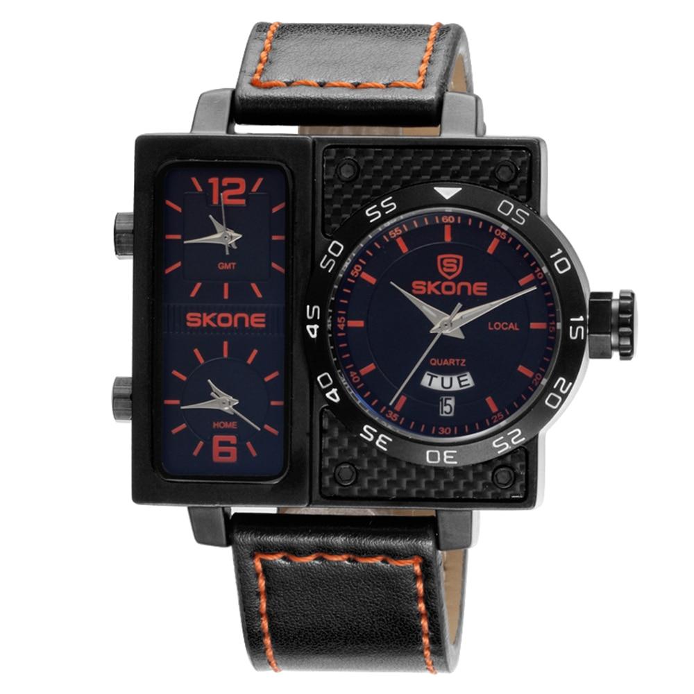 SKONE 2018 Sport 3ATM Water-resistant Quartz Watch Men Gifts Wristwatches Male Calendar Watch Hot Items Sale цена и фото
