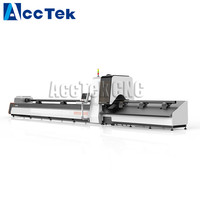 1000W,500W laser source Tube pipe metal fiber laser cutting machine AKJ60F with factory price