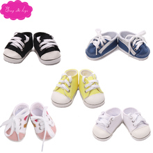 18 inch Girl doll shoes fashion Sports shoes sneakers American newborn Canvas shoe Baby toys fit 43 cm baby dolls s156 serendipity s156
