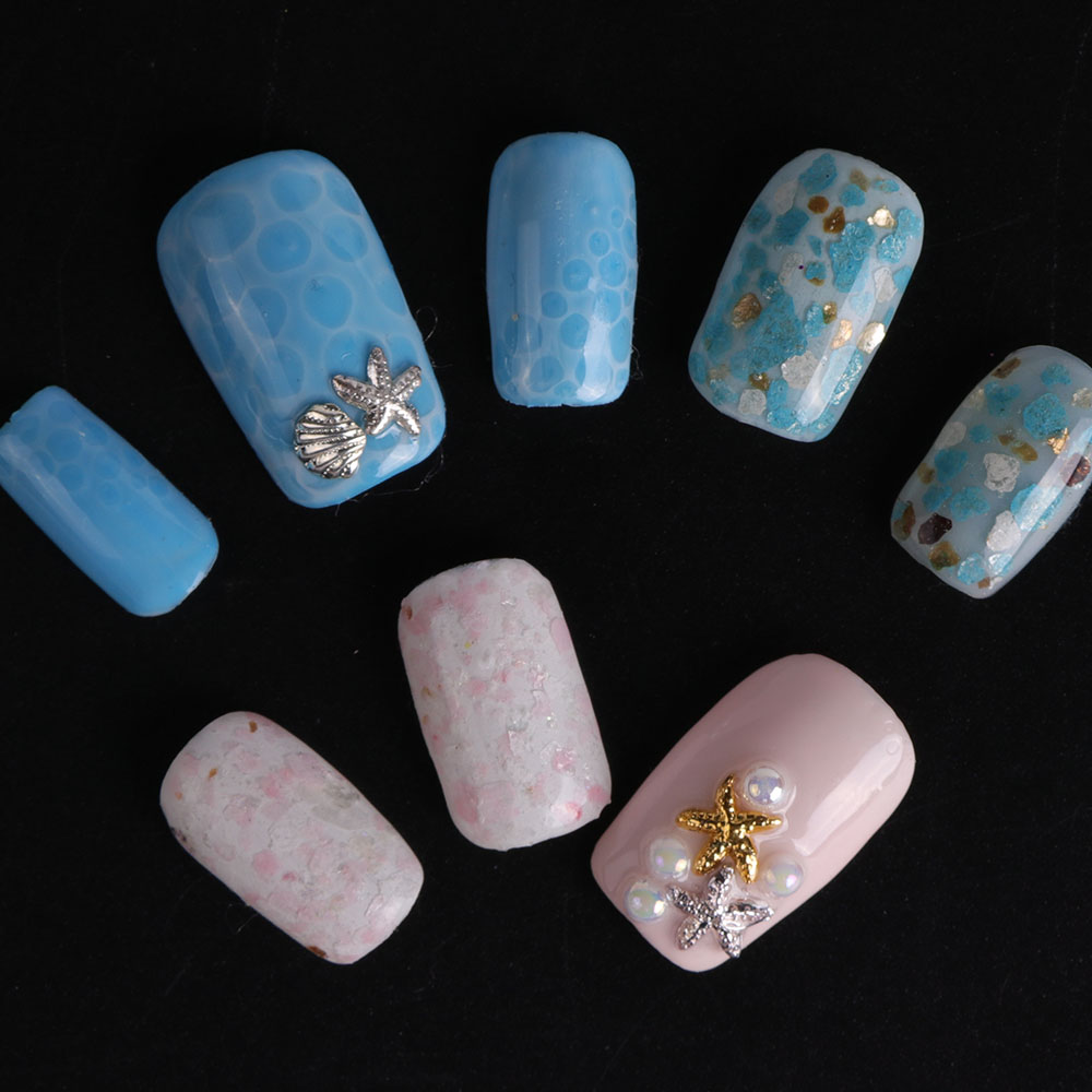 Image 5 - 1 set 12 Grid Colorful Marble Irregular Nail Sequins 3d Fine Nail Glitter Powder Manicure Flakes Paillette Nail Decoration LA546-in Nail Glitter from Beauty & Health