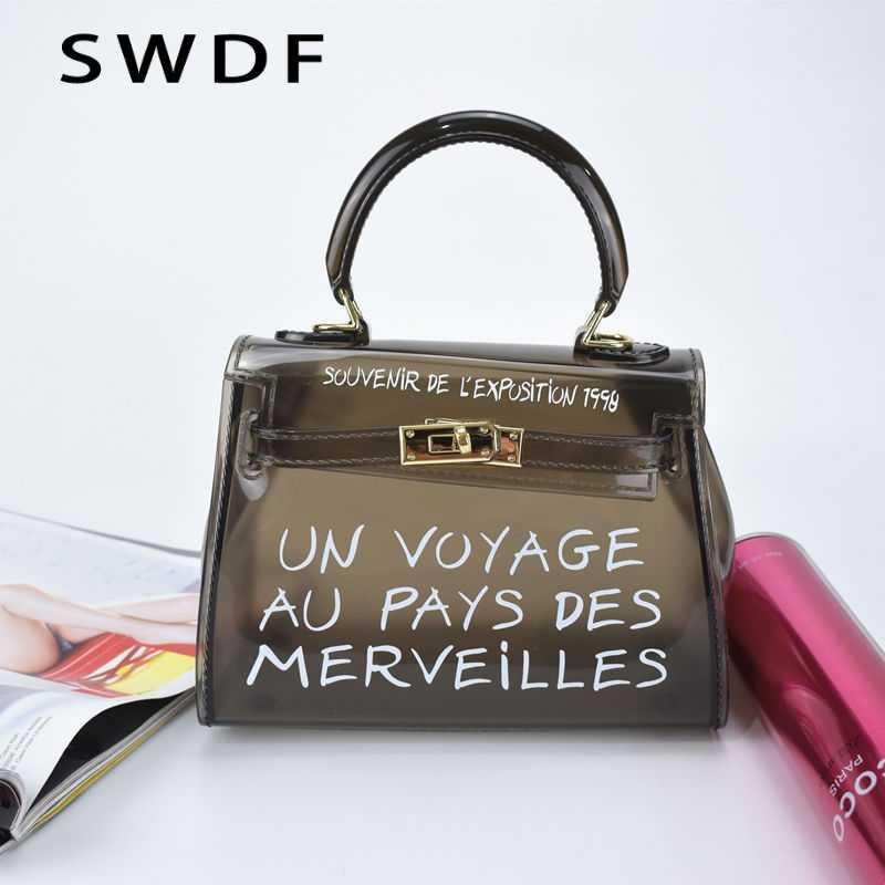 c8caced9727c ... Крутая и пляжная прозрачная сумка женская большая прозрачная оранжевая  ПВХ Прозрачная женская пластиковая сумка ПВХ желе ...