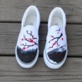 Про Женщин Ручной Росписью Холст Обувь Мода Женщина Ступня Упаковка Китайский Стиль Элегантный Персонализированные 2017 Весна Лето Горячие Продаж