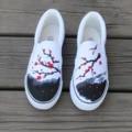 Servicio de Las Mujeres Pintadas A Mano de Envolver el Pie de Moda Los Zapatos de Lona Femeninos de Estilo Chino Elegante Personalizado 2017 Primavera Verano Caliente de Las Ventas