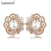 Teemi Top Quality Wedding Jewelry Trendy Stylish Champange Gold Plated Pear Earrings CZ Valentine S Day