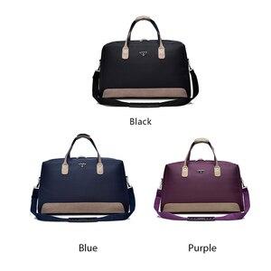 Image 5 - Wobagパッチワーク革の男性はバッグ防水オックスフォード女性旅行バッグ大容量のトートバッグ荷物ショルダーバッグ