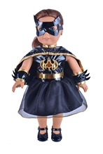 Ebuddy Black Batgirl Doll Clothes Dress Cloak Mask For 18 inch American Girl Doll