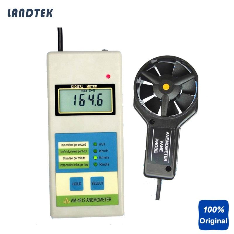 Landtek AM4812 Digital Anemometer Wind Speed Meter инструменты измерения и анализа landtek sl5816 sl 5816 40 130