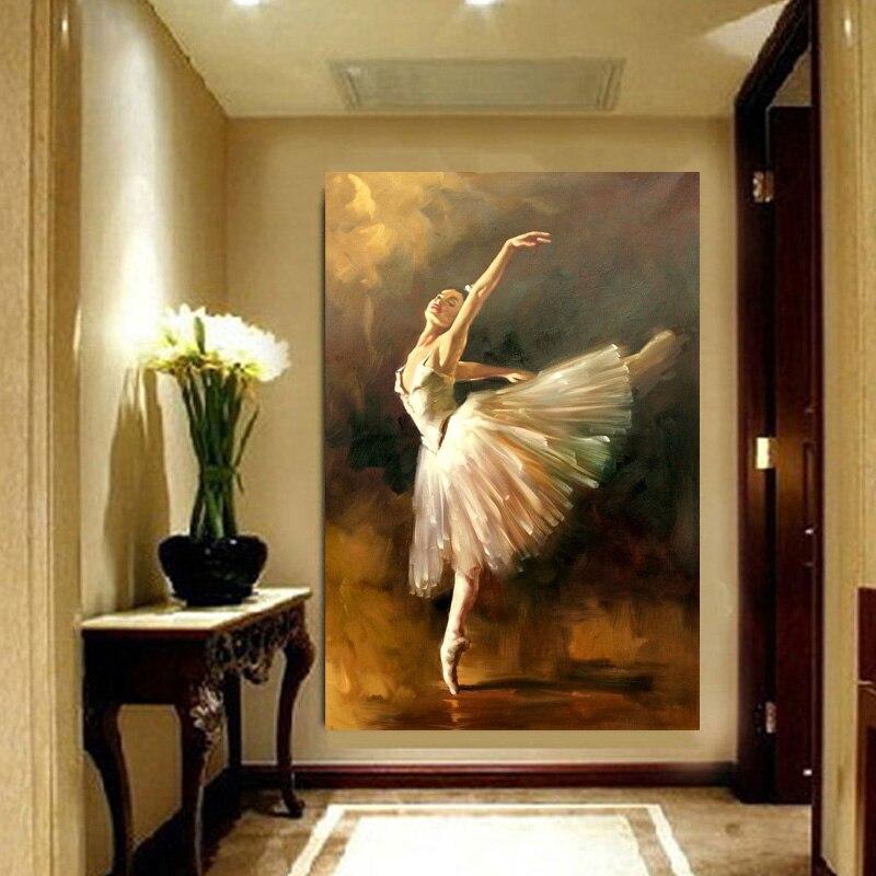 Toile art peint à la main moderne ballerine danseur peinture à l'huile espagnol danseur peinture à l'huile Art mur Art pour décoration de salon