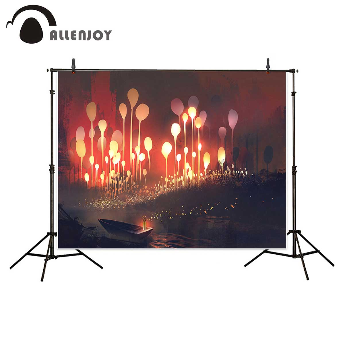 Allenjoy photography backdrops Wonderland children background boat shiny flowers backgrounds for photo studio for photography 600cm 300cm backgrounds painting flowers blooming beauty mother s day photography backdrops photo lk 1428