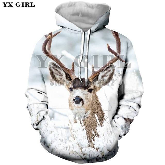 21a9629e2a23 YX Girl New XS-5XL Fashion Animal Printed Hoodies Women Men 3D Deer  Sweatshirt Autumn Hoodie Casual Pullover Unisex Tracksuit