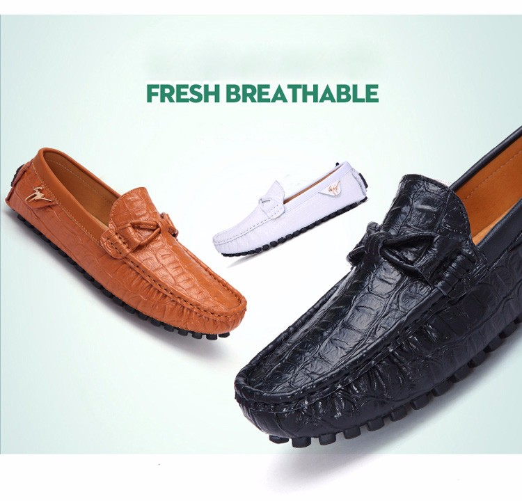 2016 KUYUPP Fashion Genuine Leather Men Loafers Casual Slip On Flats Summer Flat Heels Men Driving Shoes mocassin homme H48 (3)