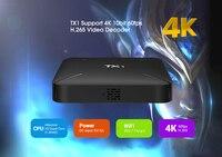 коробка тв тх1 Андроид 7, 1 Allwinner Н3 1 гб памяти DDR3 + 8 гб eMMC на 2, 4 ггц поддержка 4 к сек.265