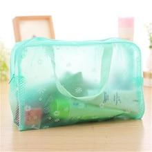 PVC õie printimine kosmeetika korraldaja kottide veekindel vannitoa pesu kotid ladustamiskott šampooni suplusvahenditele