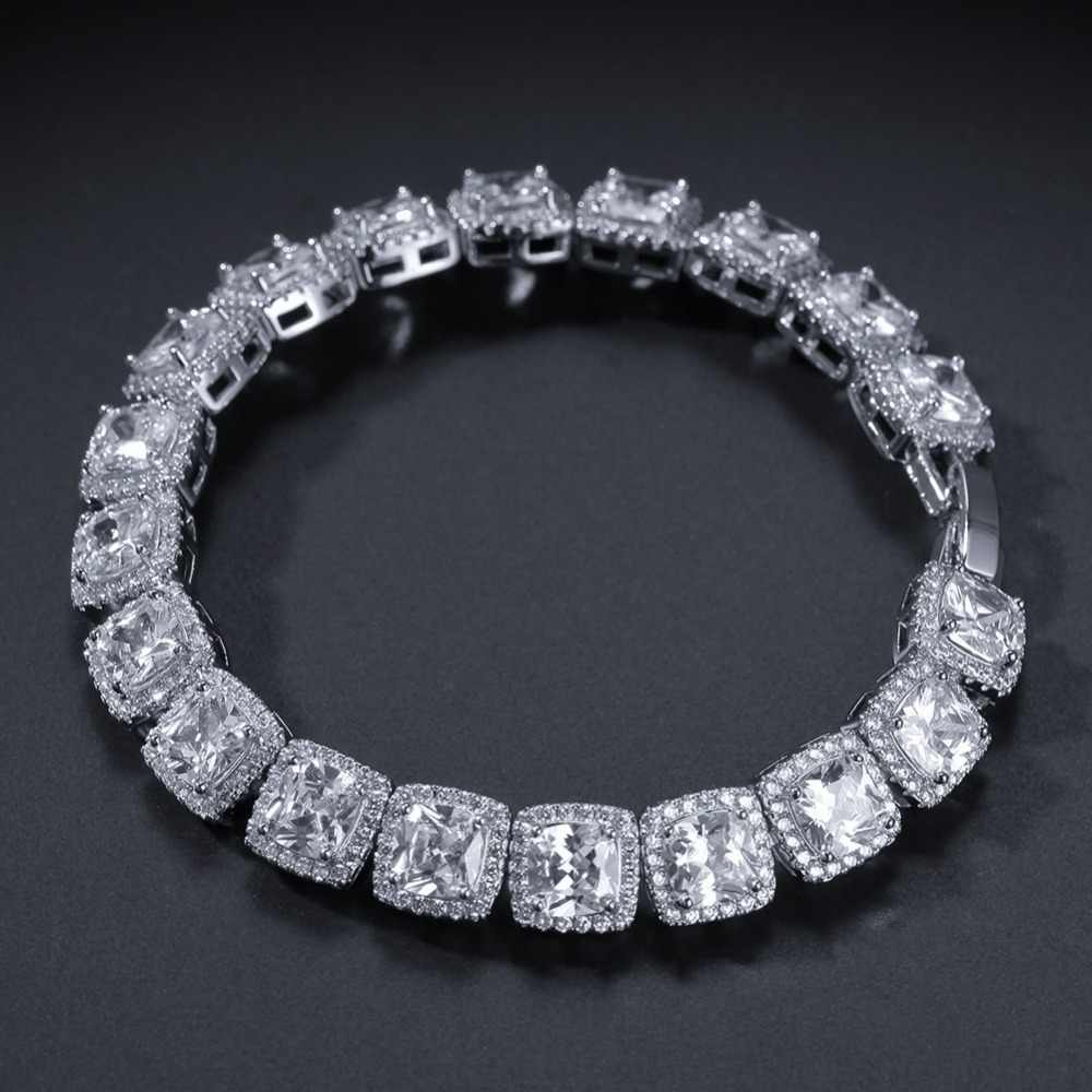 2469d62e1fed3 AAA Cubic Zirconia Choker Necklace Women Men Hip Hop Bling Iced Out 1 Row  CZ Stone Tennis Chain Necklaces Rapper Jewelry