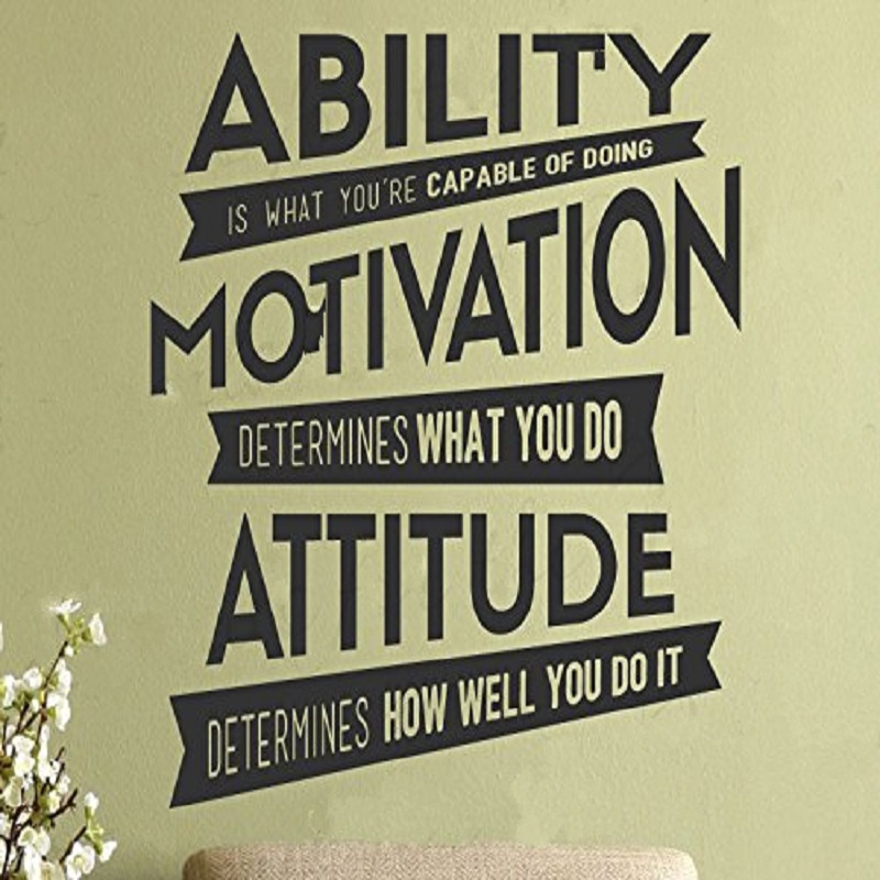 Motivational Wall Sticker Quote Ability Motivation