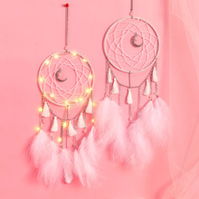 Creative fine arts and crafts with lamp  dream catcher pendant feather home decoration birthday gift gifts