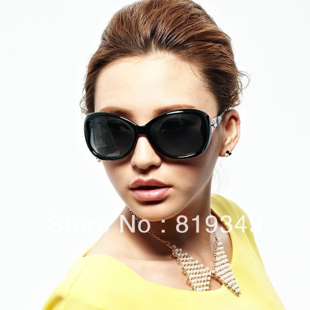 2013 New VANCL Women Sunglasses Rosemary Fashion Oversized Sunglasses Polycarbonate Molded Nose Pads Dark Brown FREE SHIPPING