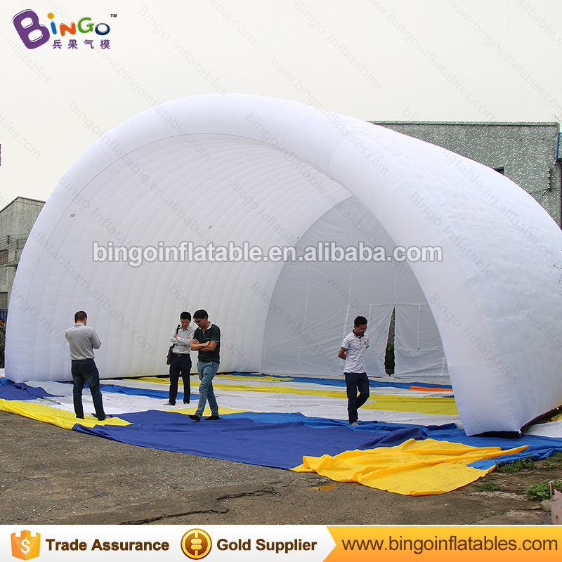 giant 10x8x6M Inflatable Stage Cover Tent in white color toy tents 6 8x4x3 4m oxford cloth inflatable stage tent inflatable stage cover inflatable canopy tent for concert with free shipping