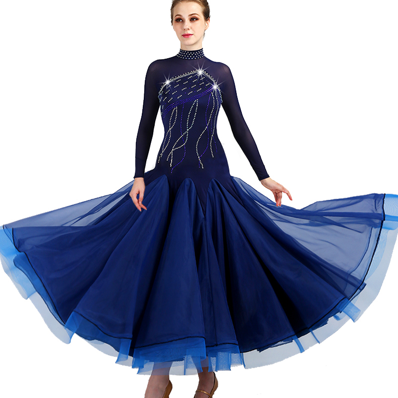 2019 New Costume Sale Ballroom Dance Skirts Newest Design Woman Modern Waltz Tango Dress/standard Competition Dress  MQ095