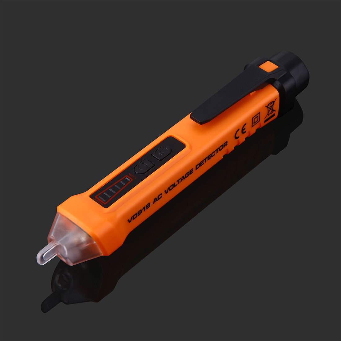 Hot sale PM8908C Non-contact AC Voltage Detector Tester Meter 12V-1000V Pen style Voltage Detector 2016 newest hot digital lcd vibration meter tester vibrometer bearing condition detector hot sale