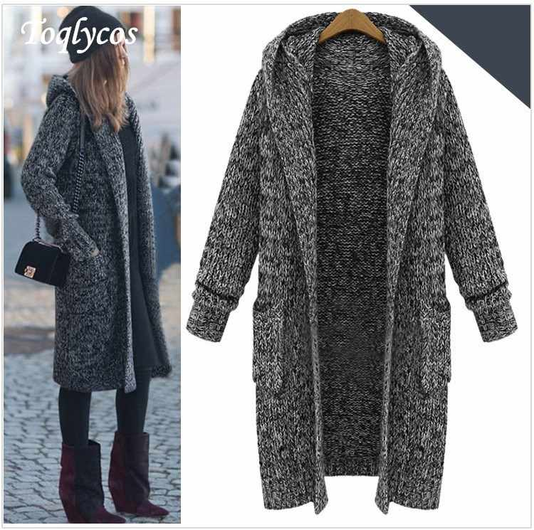 2018 Women Winter Sweater Autumn Shawl Cardigan Long Coat   240
