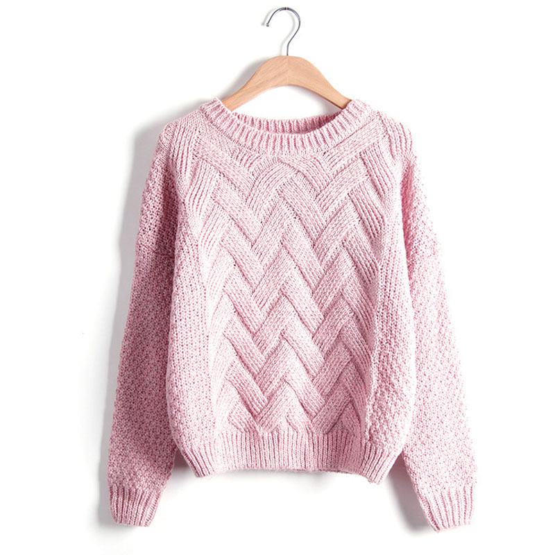 Pull Femme 2018 Autumn Winter Women Sweaters And Pullovers Plaid Thick Knitting Mohair Sweater Female Loose Variegated
