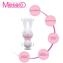 Meselo Cute Rabbit Vibrator 3 Motors 10 Modes Vibrating Silicone Sex Toys For Woman Vagina Clitoris Stimulator Women Adult Toys