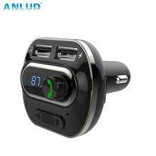 Bluetooth Trasmettitore FM Wireless In-Car Trasmettitore Radio Adapter Kit Per Auto Universale Caricabatteria Da Auto con Due Porte USB di Ricarica