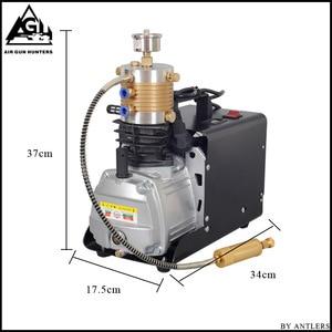 Image 3 - 4500PSI высокое давление авто Стоп Электрический PCP компрессор возвратно поступательный воздушный насос для пневматического оружия подводная винтовка PCP Надувное устройство