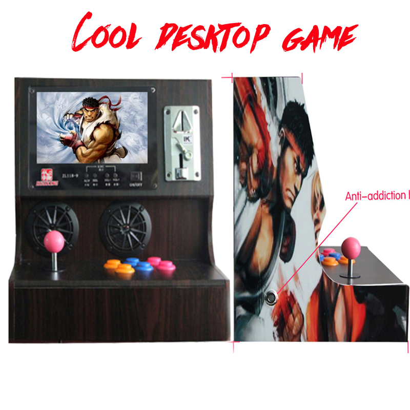 Arcade machine classical coin video game console/ Family Professional classic wooden mini Simulator game machine/ 1000+ GAMES 220v 6 holes coin token hopper for coin changer machine vending machine game machine