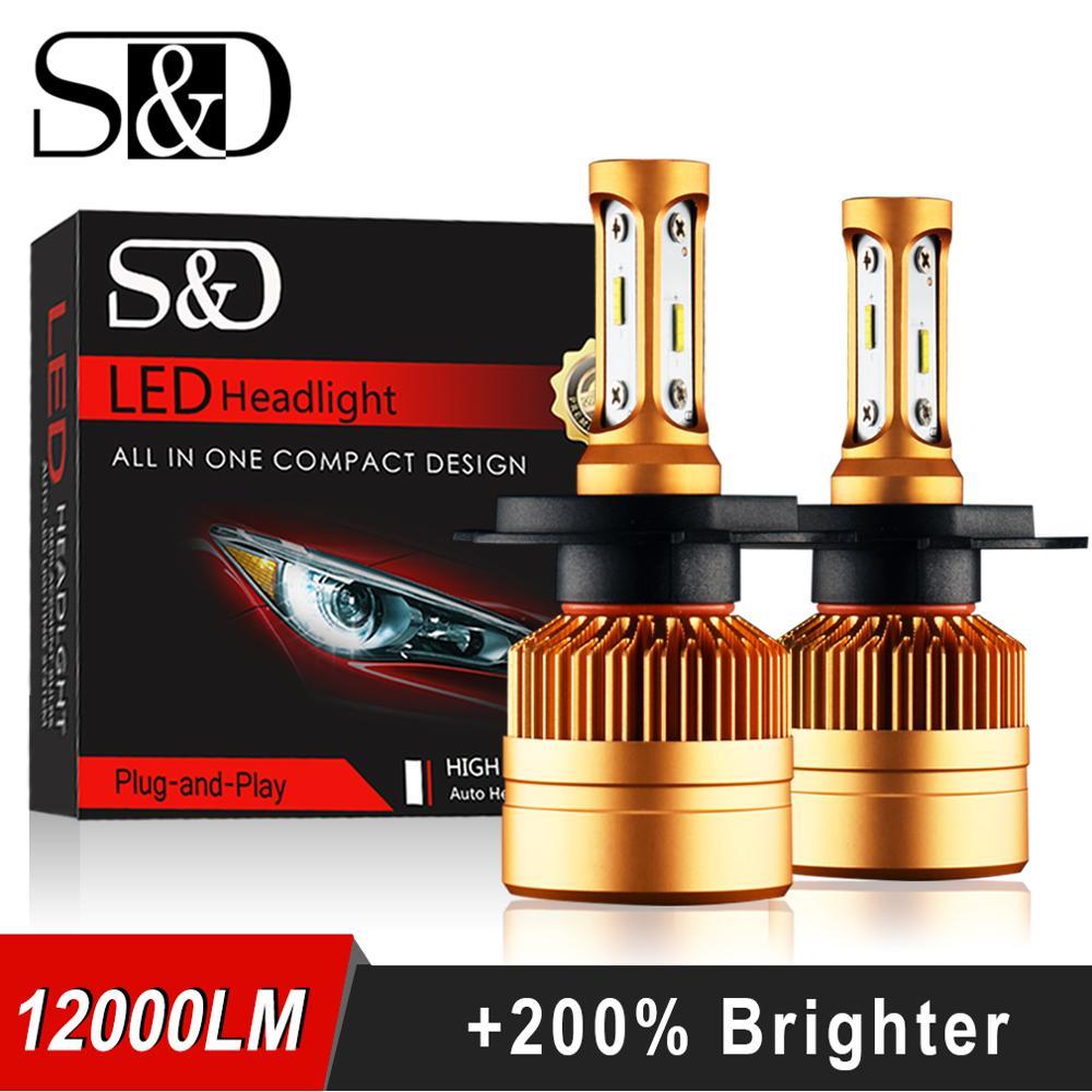 2 Unids H1 H3 H4 H7 H11 H8 9006 HB4 LED HB3 H9 H27 8000LM Linterna del coche Bulbos de Lámpara LED con Philips Chip Auto Faros de niebla 6000 K 12 V