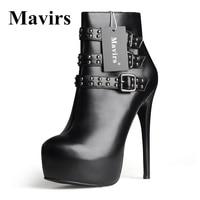 Mavirs Women S Cyjk High Heel Platform Ankle Boots Large Size Pumps Shoes