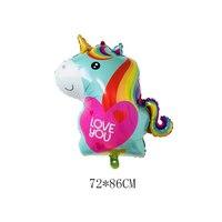 New 50 Pcs 72*86cm Cartoon Unicorn Balloon Birthday Party children Birthday Balloons Unicorn Party Baby Shower kids gift Globos