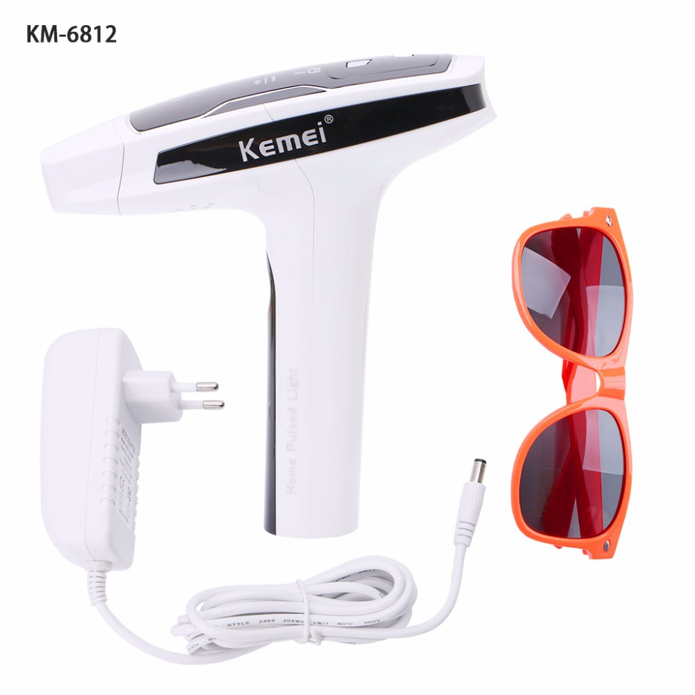 Kemei Epilator Female Photon Laser Body Hair Removal Depilatory Shaver Razor Device Face Skin Care Tool for Women EU Plug