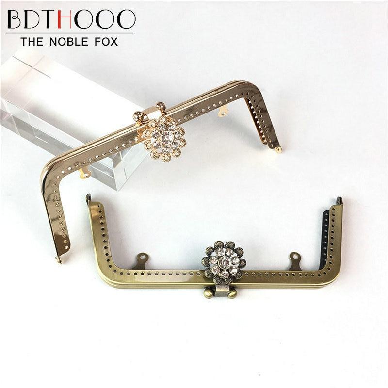 BDTHOOO 10pcs 20cm Metal Purse Frame Handle for Making Kiss Clasp Diamond Lock Antique Bronze Tone Bags Hardware Accessories fggs 1pc metal purse bag frame kiss clasp lock silver tone size 16 5x9 5cm