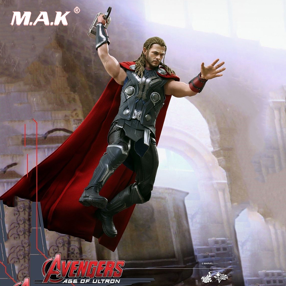 1/6 Full set Action Figure Hot Toys 1/6 MMS306 Avengers: Age of Ultron Thor 12'' Male Figure Collection Toy original full set action figure mms357 avengers age of ultron 1 6th scarlet witch wanda django maximoff figure doll model