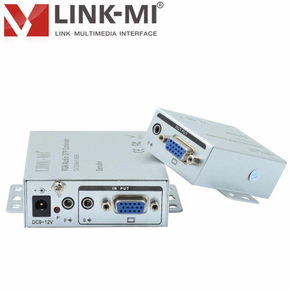 101TRC 100 m VGA Extender émetteur et récepteur RJ45 UTP VGA réseau vidéo signal amplificateur 1920x1440 pour PC moniteur projecteur