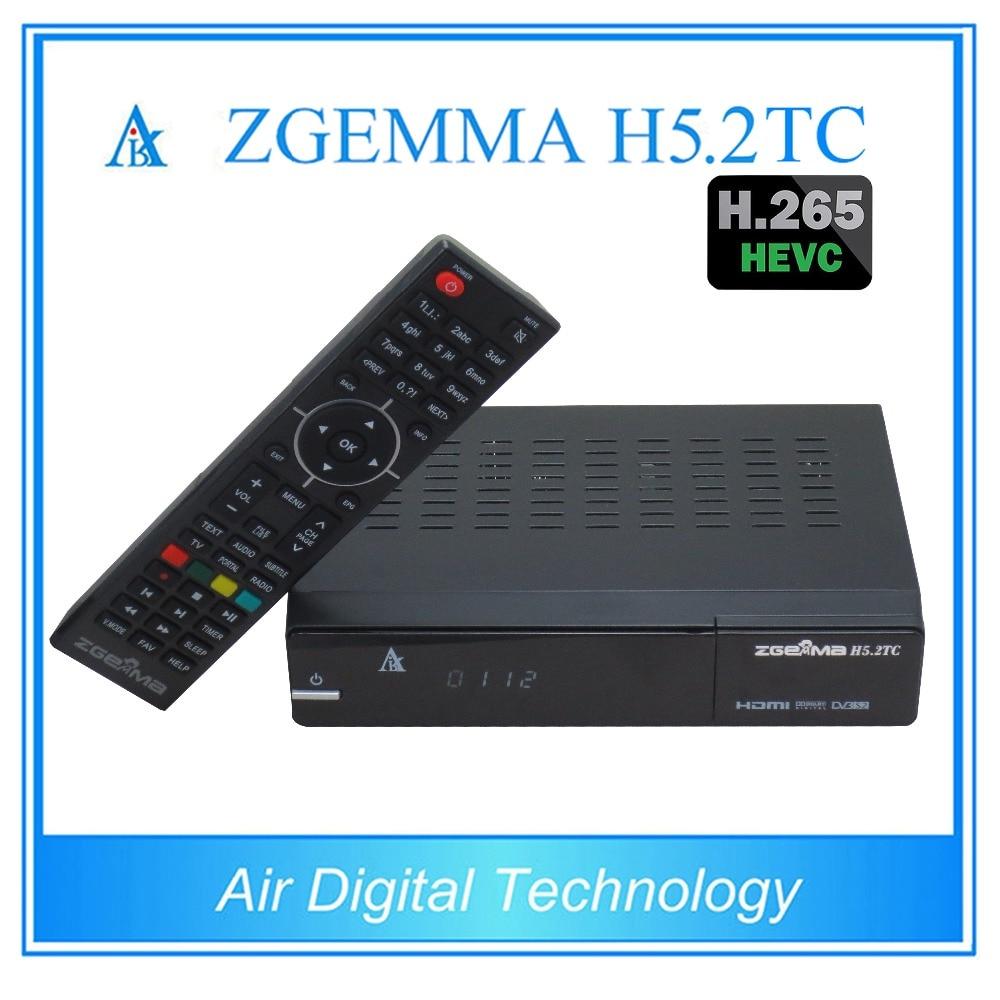 5 pcs/lot zgemma h5.2tc satellite tv box with multi-stream h.265 tv decoder DVB S2 + 2 * DVB C/T2 i box rs232 dvb s satellite smart sharing nagra 3 dongle black